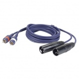 Cable audio 2 RCA macho a 2 canon macho - 7189