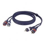 Cable audio 2 RCA macho a 2 RCA hembra FL27 - 7379